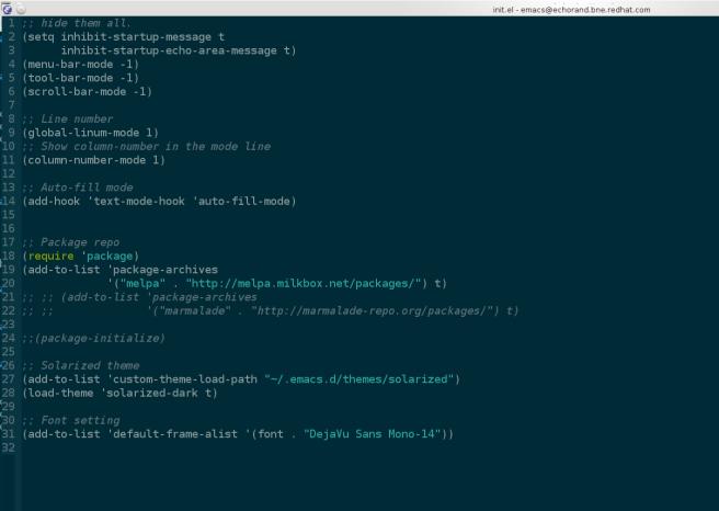 Emacs + Solarized
